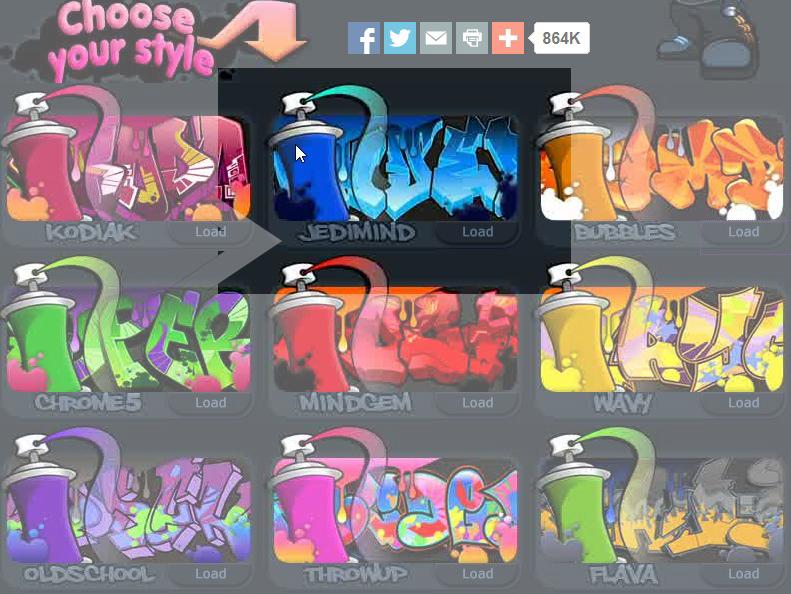 Cara Membuat Gambar Graffiti di Graffiti Creator - MESTIQUI