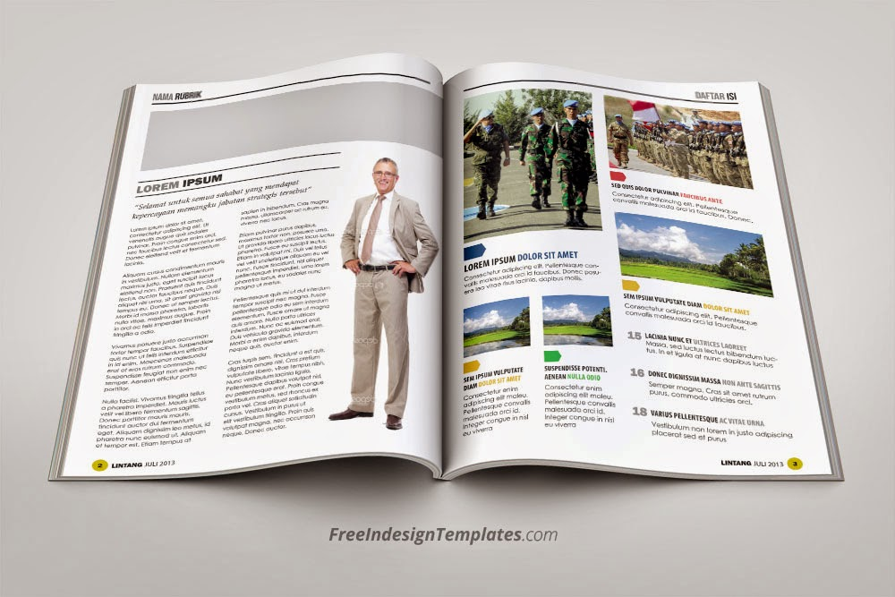 free indesign simple magazine template #1 | free indesign, Powerpoint templates