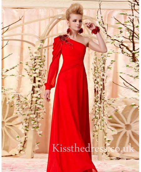 Red Long Prom Dresses For Christmas
