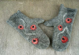 women mittens, wool mittens, felted mittens, felt