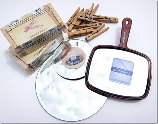 Cómo hacer un espejo con pinzas de la ropa en Recicla Inventa