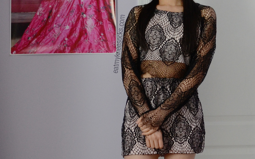 JollyChic sells this affordable dupe of the For Love & Lemons Grace crop top and skirt for just $30.
