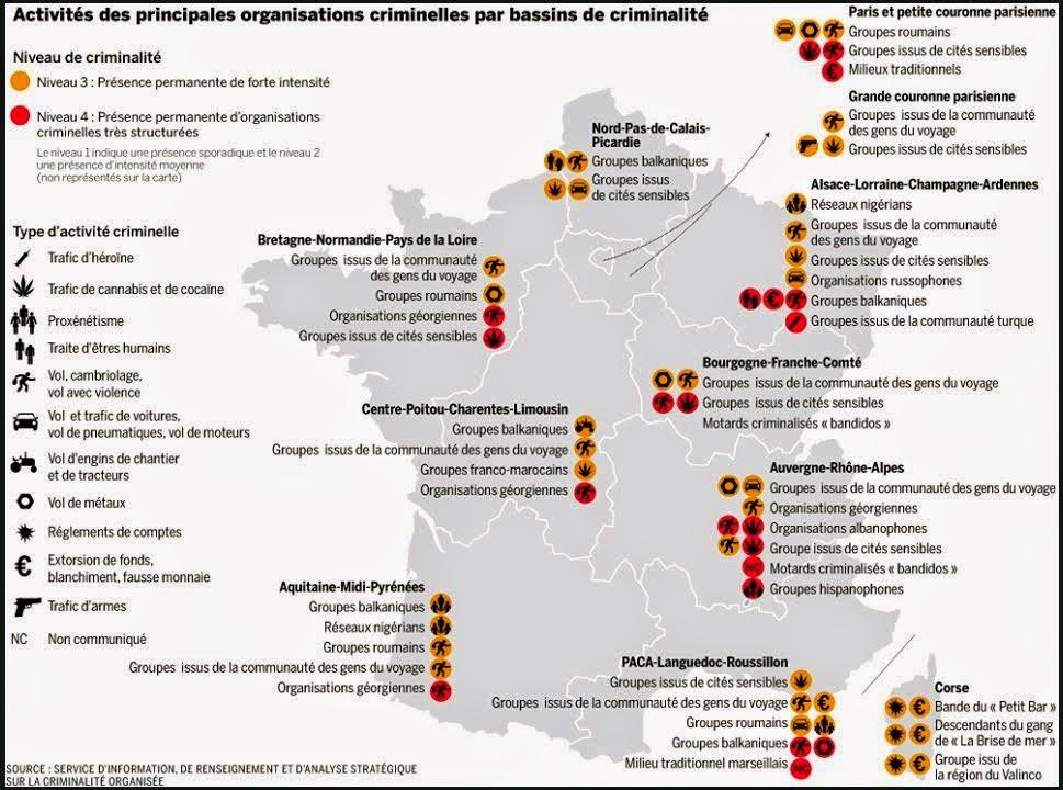 carte de France de l'insécurité