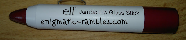 ELF-eyes-lips-face-swatch-review-lip-gloss-stick-jumbo-sangria-starters