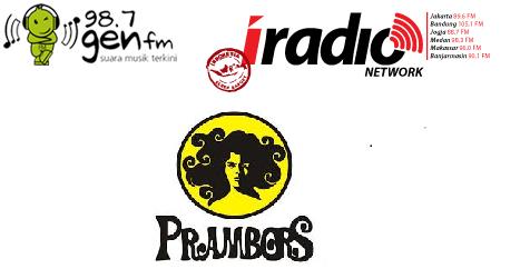 Tangga Lagu Top 10 di Radio Prambors , Iradio dan Gen FM