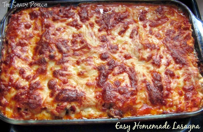 fresh out of the oven Easy Homemade Lasagna