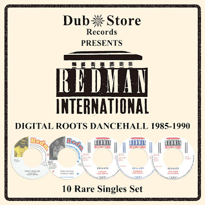 Redman International: Digital Roots Dancehall 1985 to 1990 - 10 Rare Singles Set (2015)