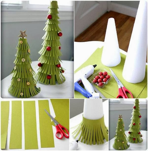 Christmas Decorations Diy With Paper : Diy paper christmas trees goodiy