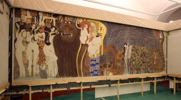 La ricostruzione del Fregio di Beethoven e altre opere di Klimt esposte a Palazzo Reale