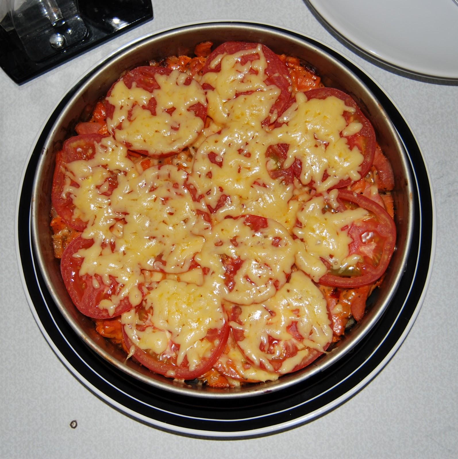 Макароны запеченные с сыром и помидорами в духовке рецепт 187