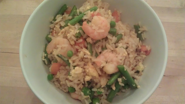 Gingey Bites Egg fried rice with prawns