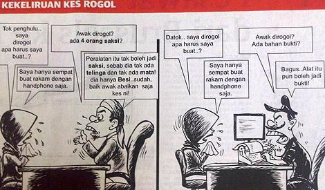 Lukisan, Karikatur, Kartunis, Surat Khabar, Utusan Malaysia, Kosmo, Berita Harian, Karikatur yang Menghina Islam, Rogol, Kes Rogol, Islam, Undang-Undang Islam, Hudud, Liwat, Kes Liwat, Zina