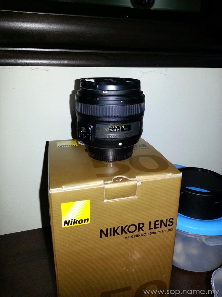 Berjaya dapat Lens Nikon 50mm F1.8G murah
