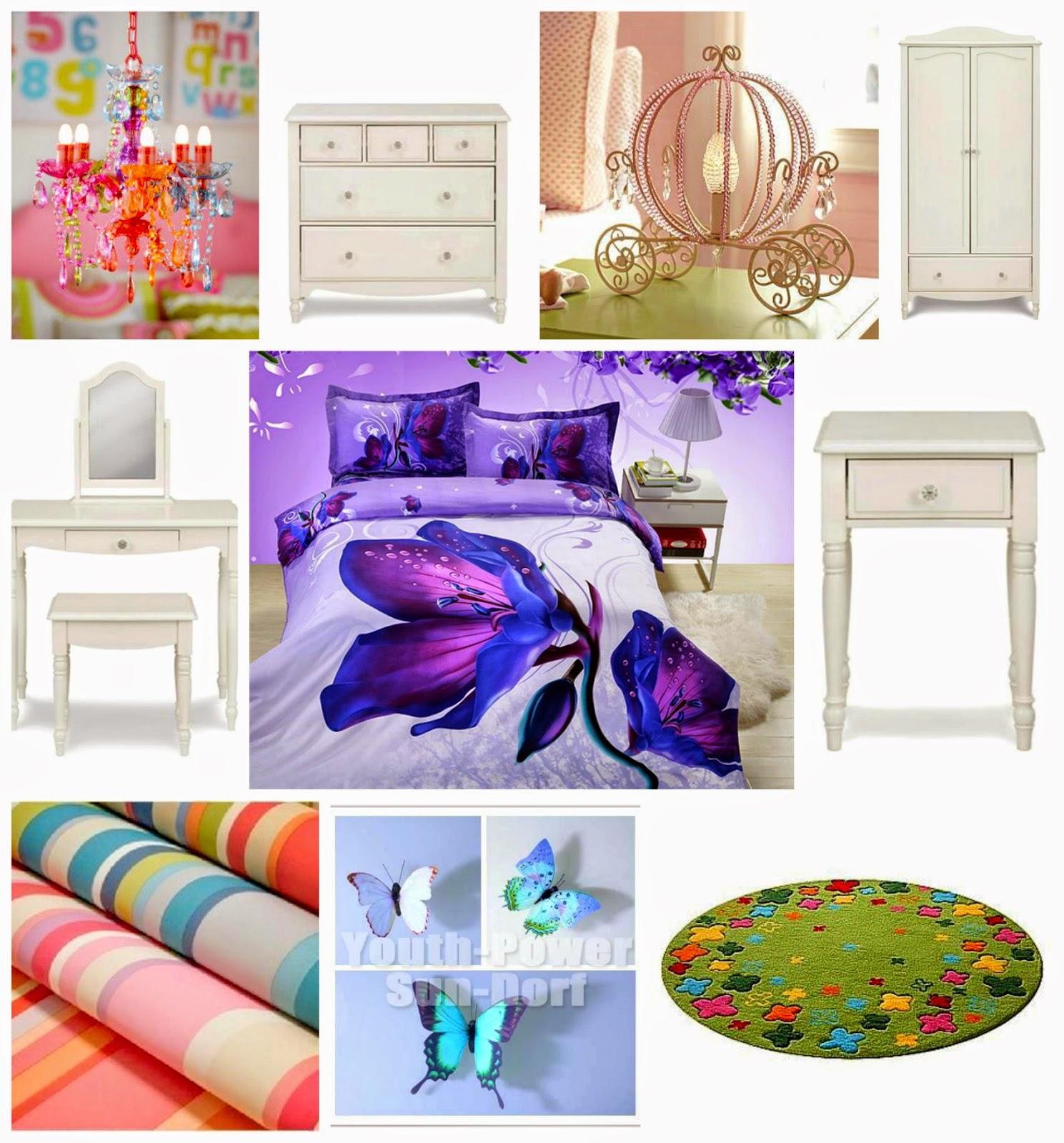 rainbow colour children bedroom, children bedroom decoration, interior design