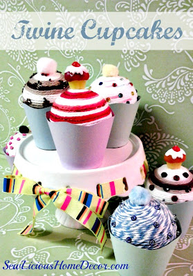 Twine Cupcakes DIY Craft