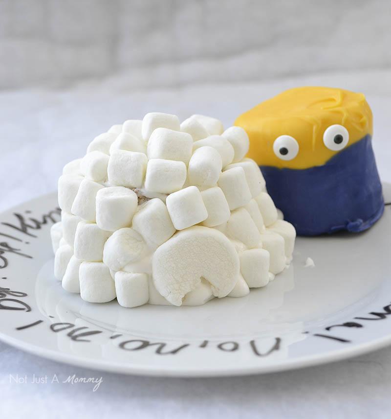 Minions Winter Yeti-land Movie Watching Party Igloo Cupcakes