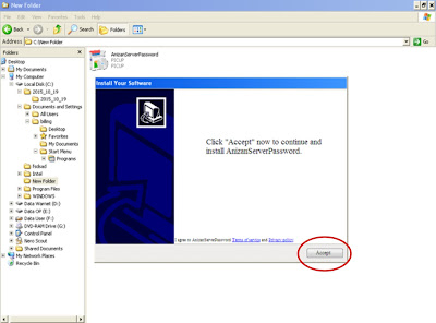 langkah 5 Memperoleh Password Anizan Server