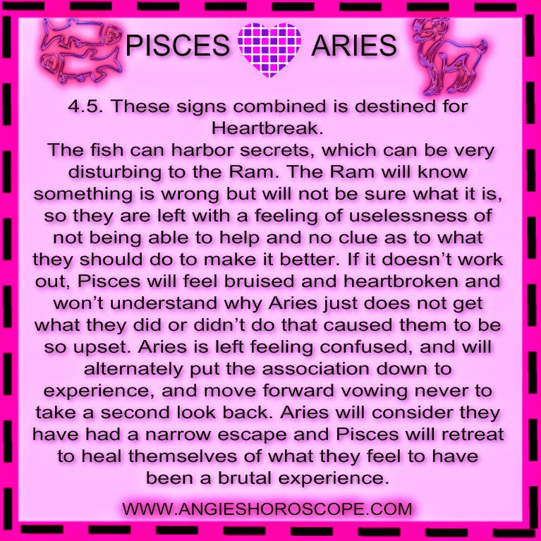 love match pisces man aries woman To use the compatibility guide, choose your sign and then enter the sign of your is a cancer with libra rising, read for the compatibility of pisces with cancer,.