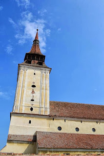 The bell tower of the Evangelical Church Fortified Feldioara, Brasov