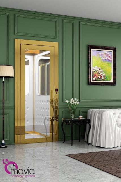 Arredamento di interni rendering 3d ascensore interni for Siti architettura interni