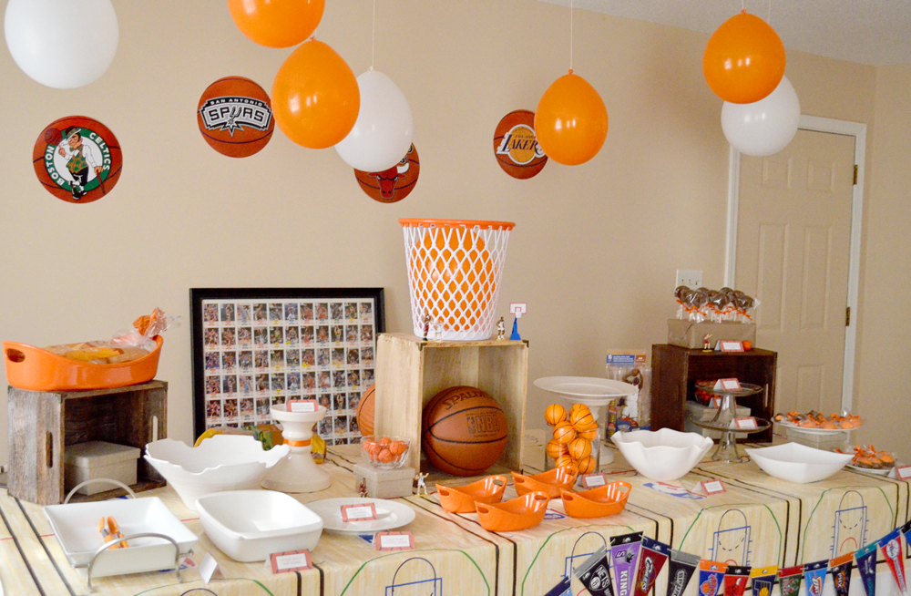 peachy cheek vintage basketball party