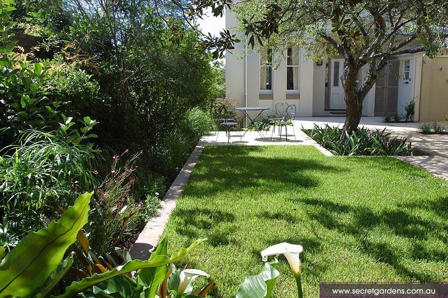 Desain taman, halaman, pekarangan, segar, indah