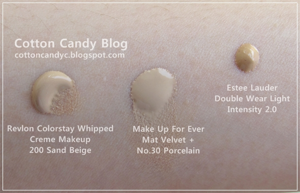 Cotton Candy Blog: Revlon Colorstay Whipped Creme Makeup (Swatches ...