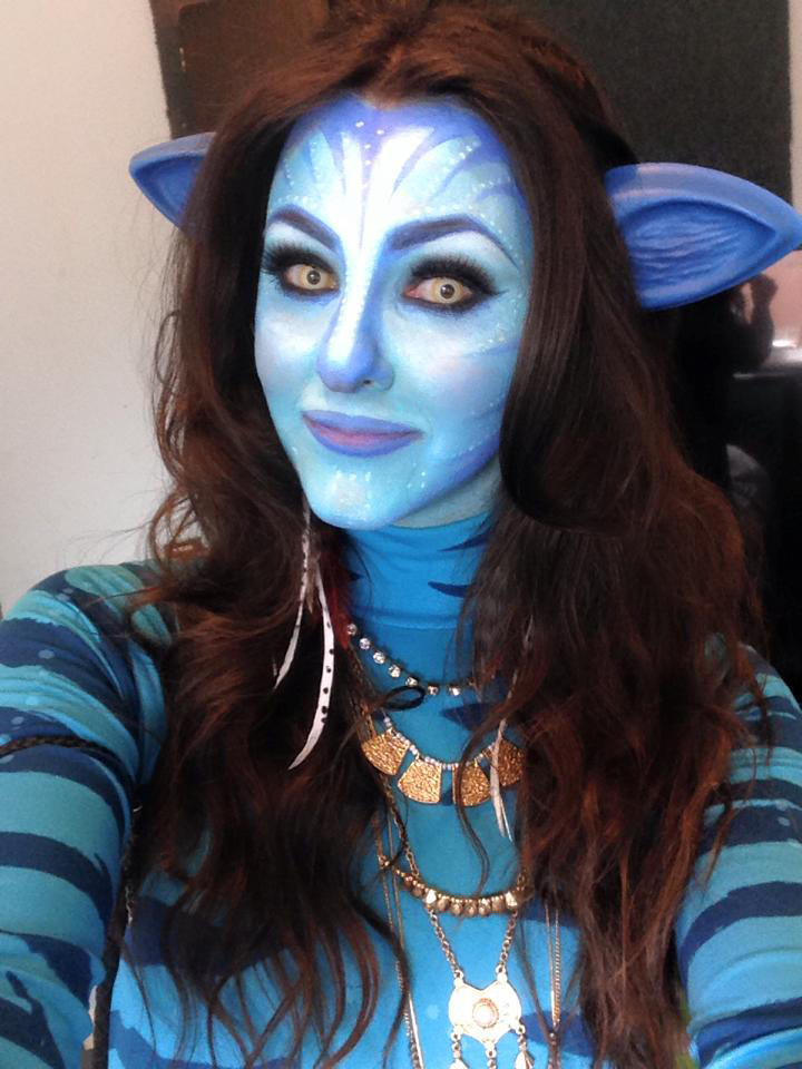 charlotte in england avatar makeup tutorial for fancy dress