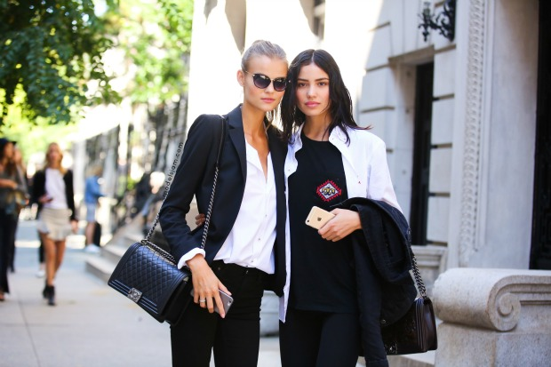 Kate Grigorieva and Irina Sharipova, New York September 2015