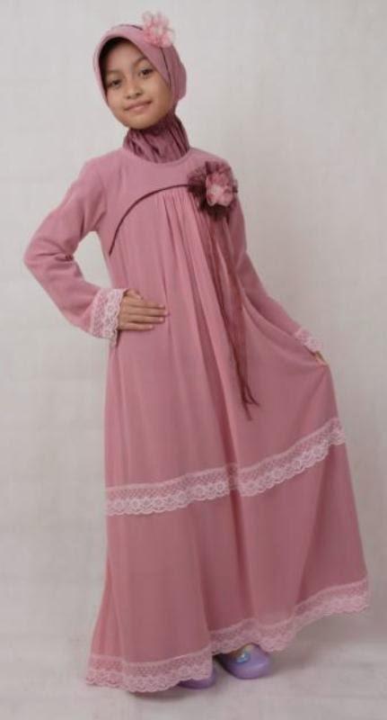 Contoh baju muslim anak perempuan model terbaru