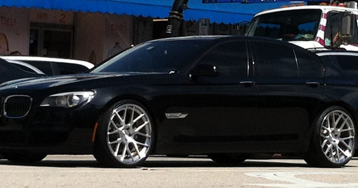 Black 7 Series Bmw With Vossen Rims Exotic Cars On The Streets Of Miami