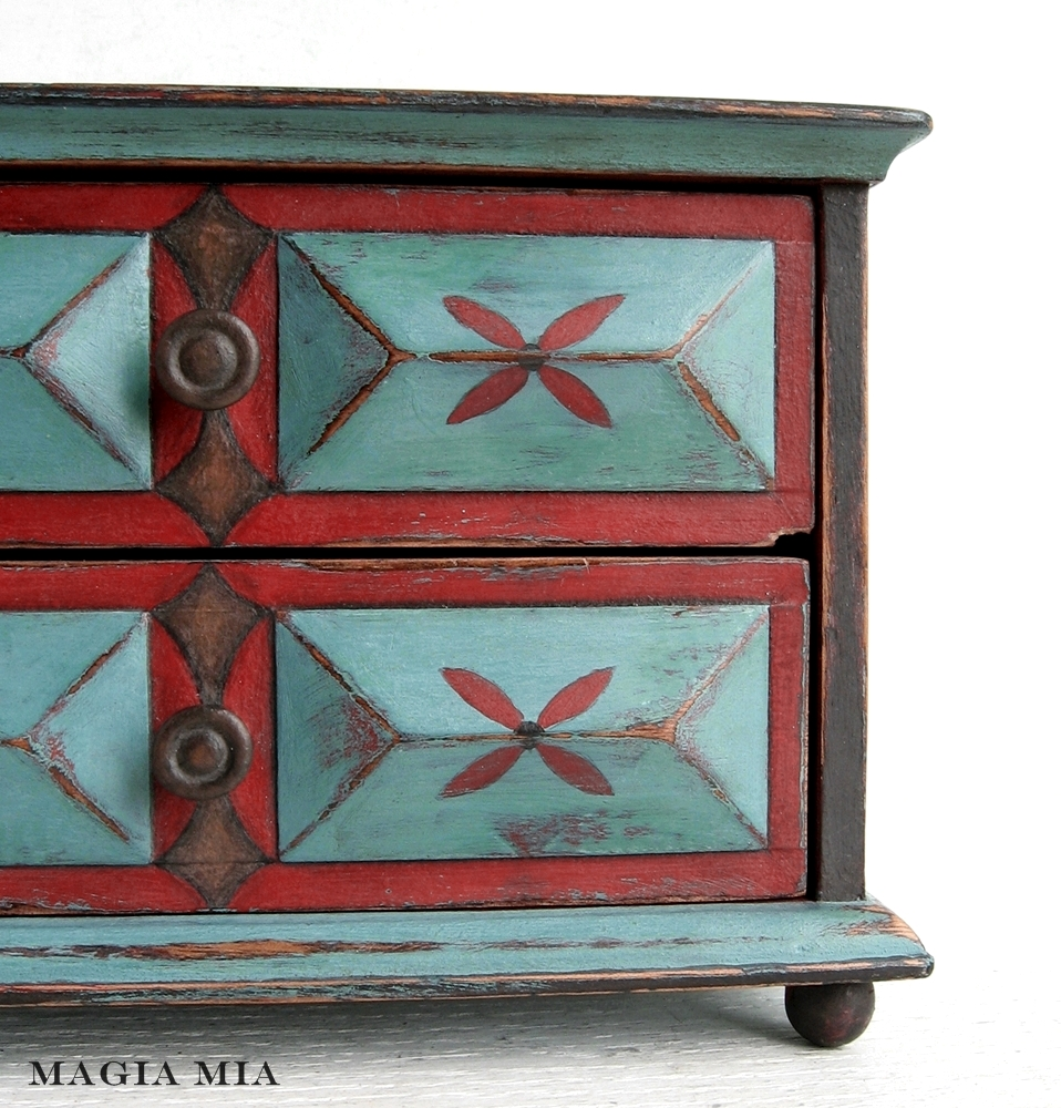 painted red furniture. Aqua \u0026 Red, Baby!........Chalk Paint Makeover Painted Red Furniture