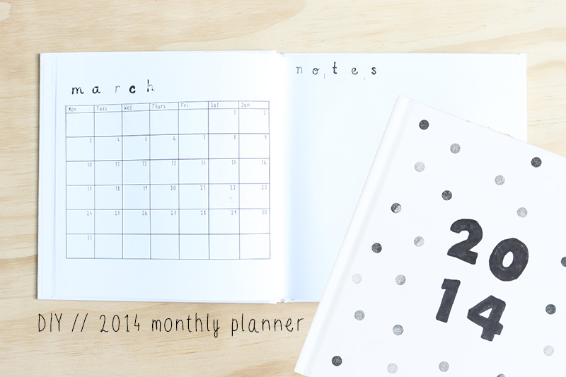 Diy Weekly Calendar : Harri wren diy monthly planner