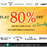 Fashion and You: Clothing, Footwear & Accessories 80% off & 10% cashback