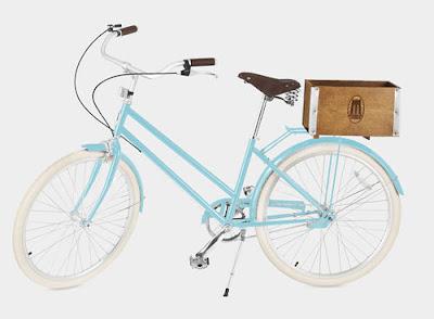 Bicicleta estilo vintage color roja