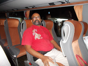 Saturday(5-9-2015):- On the plush International bus travelling from Vienna to Prague.