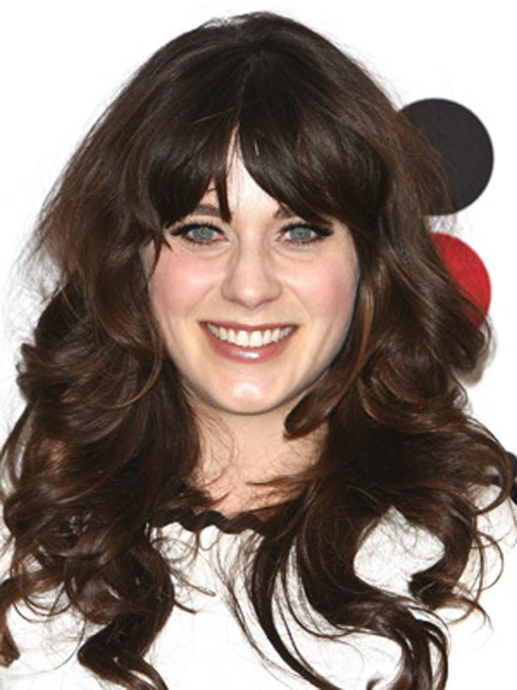 Popular Celebrity Curly Hairstyles Zooey Deschanel