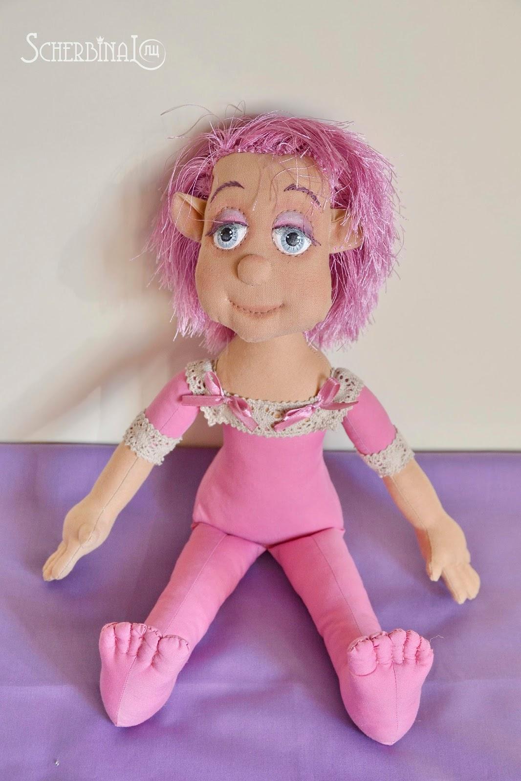 авторская текстильная кукла карамелька Людмилы Щербины Розочка
