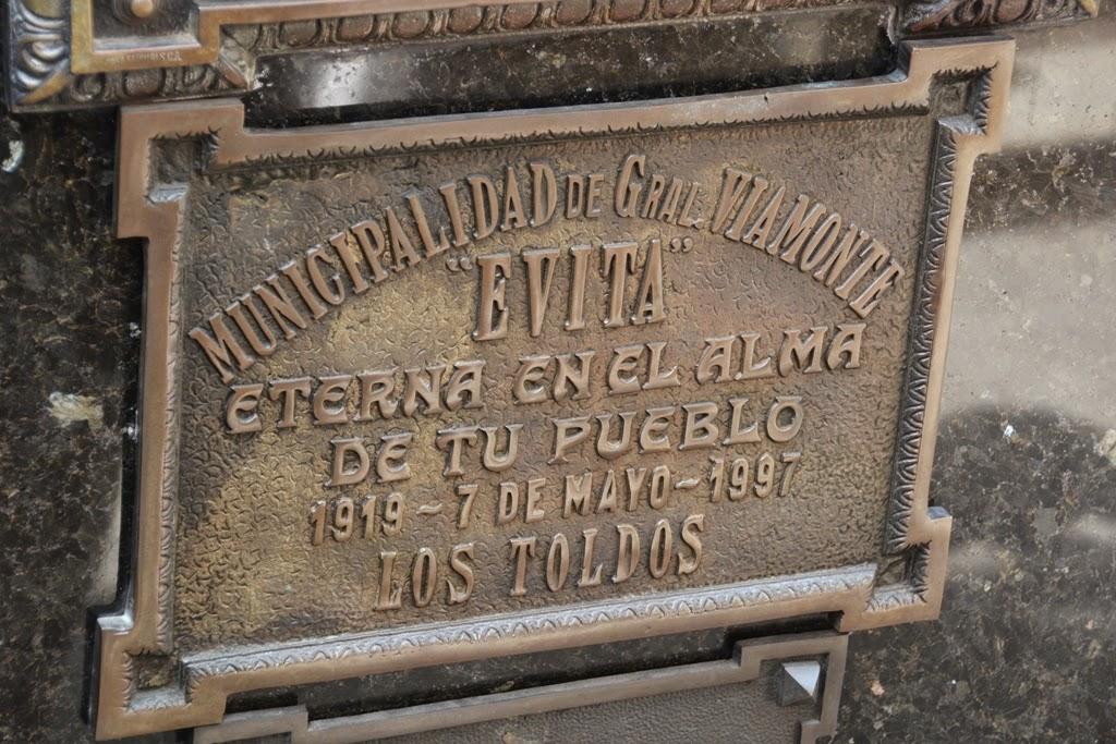La Recoleta Cemetery Buenos Aires Evita