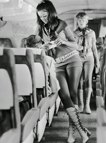 Stewardesses working for Southwest Airlines of Texas