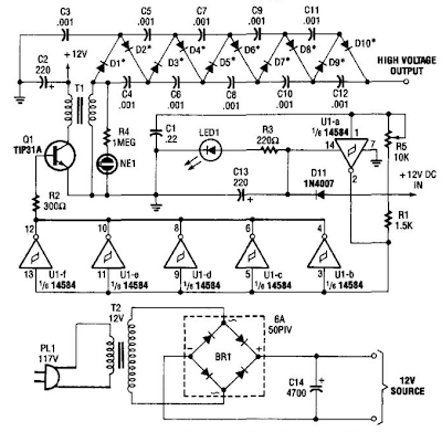 10000 Vdc Supply Circuit Diagram