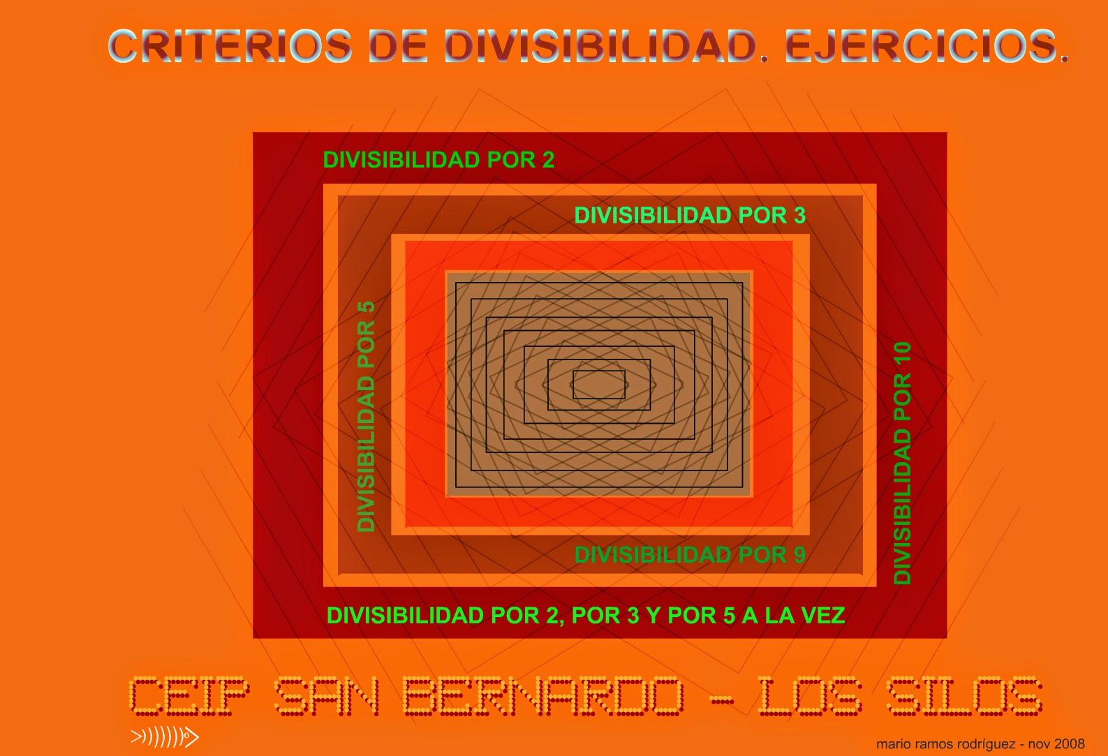 http://www3.gobiernodecanarias.org/medusa/eltanquematematico/todo_mate/multiplosydivisores/divisibilidad/ejercicios/ejercicios_p.html