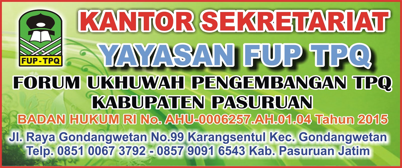 Yayasan FUP TPQ Kab Pasuruan