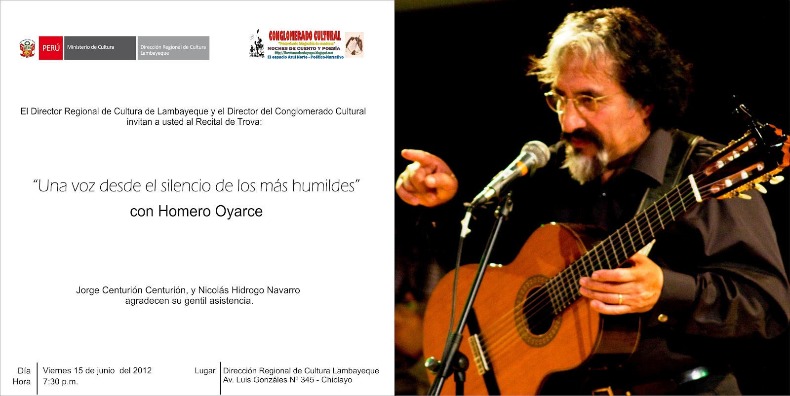 Lambayeque Vivo Recital Trova Homero Oyarce