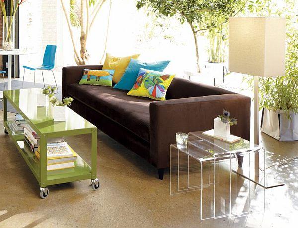 Bricolage e decora o salas com mesa de centro em acr lico - Mesa centro transparente ...