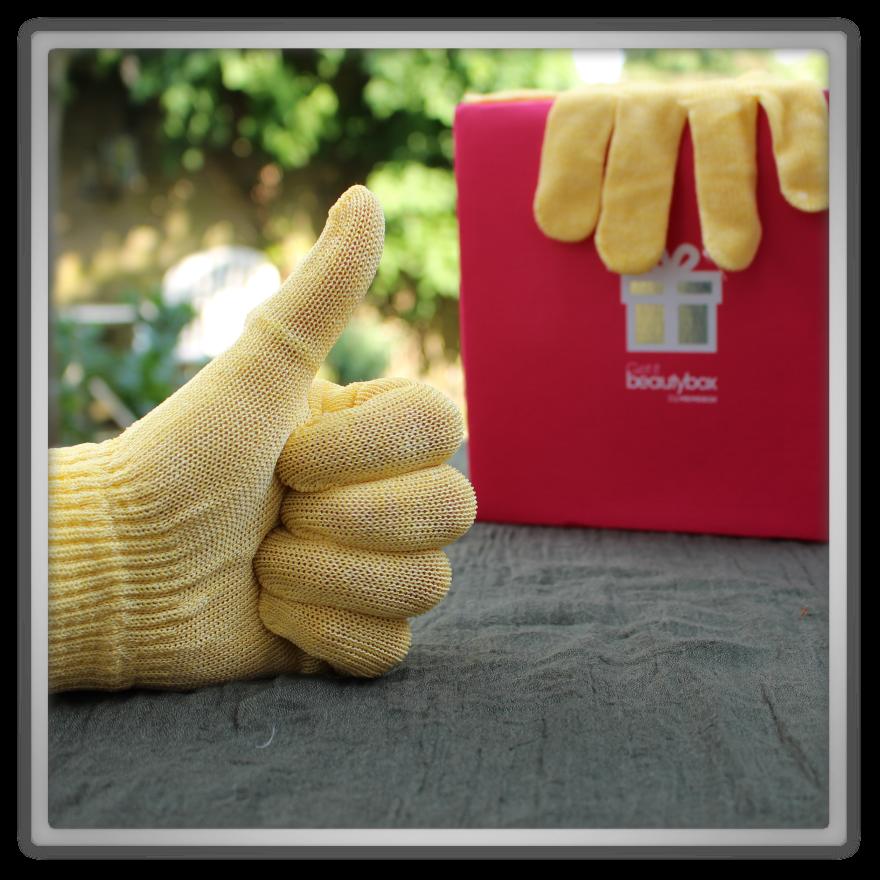 겟잇뷰티박스 by 미미박스 memebox beautybox hair & body review golden glove exfoliating gloves