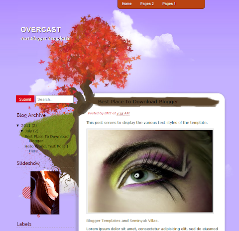 Overcast Blogger Theme