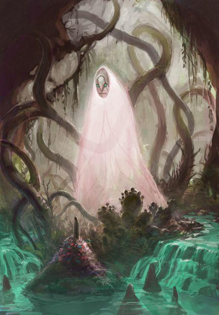 Andrew Olson ilustrações digitais fantasia arte conceitual Espírito do pântano