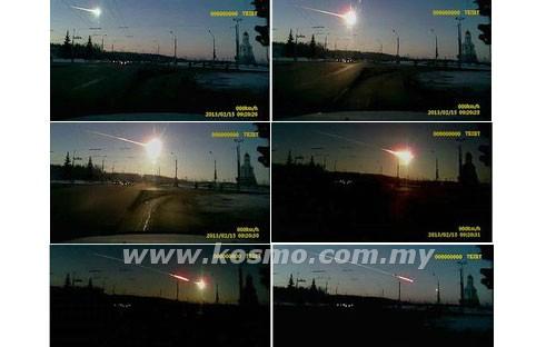 Meteor jatuh di Rusia , tahi bintang jatuh ke bumi