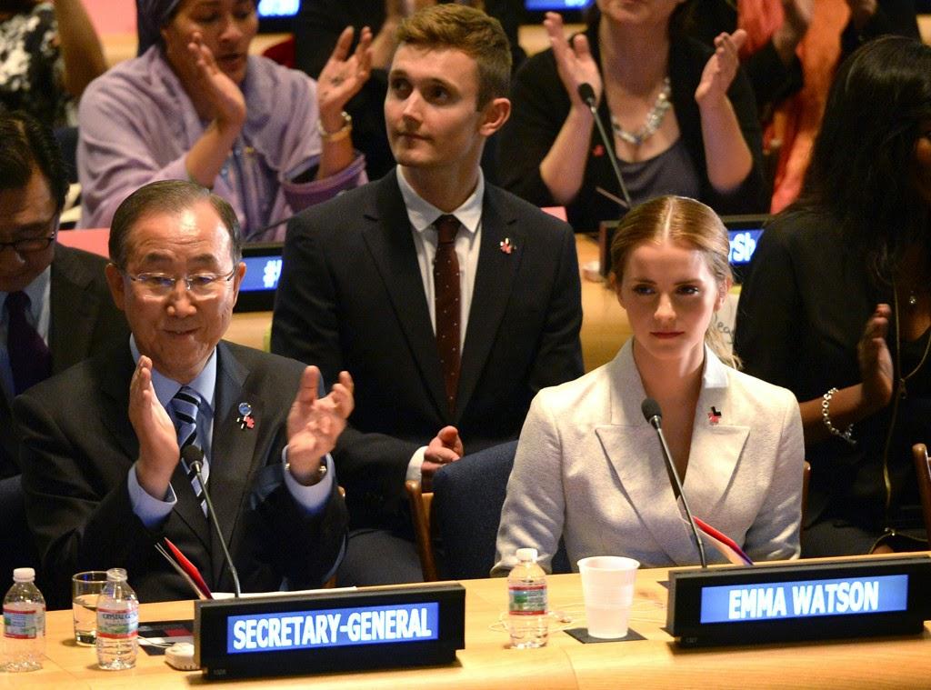 Emma Watson all'ONU per difendere i diritti delle donne.